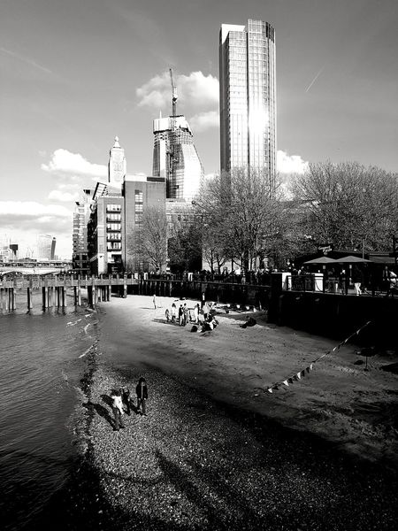 Beach After Work Blackandwhite Monochrome LONDON❤ TowerEye4black&white  Bw_collectionCity Black & White Bnwphotography London