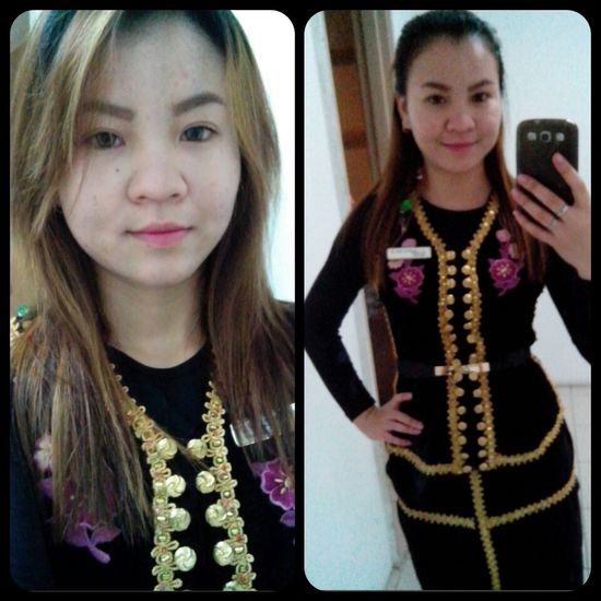 Throwback TRADITIONAL DRESS OF BORNEO, MALAYSIA