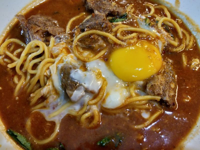Mee bandung, very delicious Malaysian style noodles Malaysian Cuisine Mee Bandung Egg Yolk Close-up Food And Drink Noodle Soup