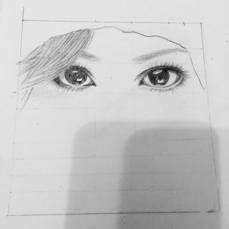 Ayumi Drawing Painting My Work Happy :) Blackandwhite Eyes l love the eyes of Ayumi hamasaki.