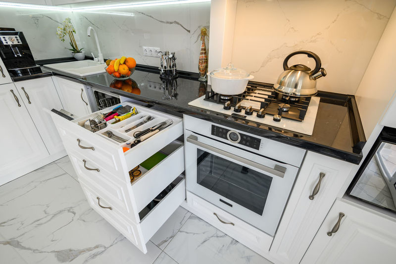 Tilt image of kitchen at home
