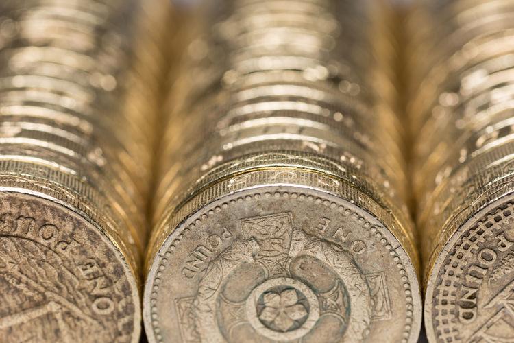 Full frame shot of british coins