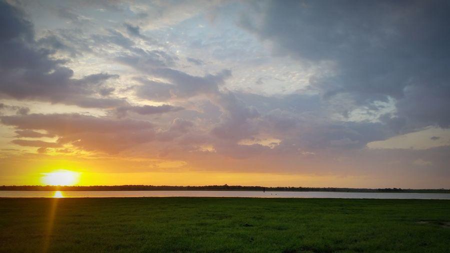 Unnichchai Batticaloa Batticaloa Sri Lanka Water Sunset Cloud Sky Nature