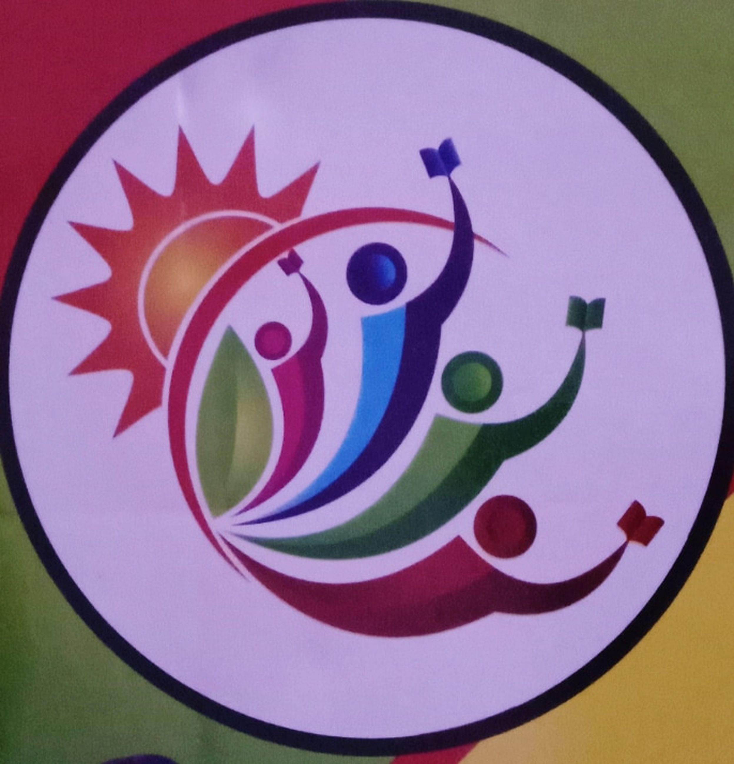 circle, multi colored, creativity, cartoon, no people, shape, geometric shape, art, close-up, pink, indoors, representation