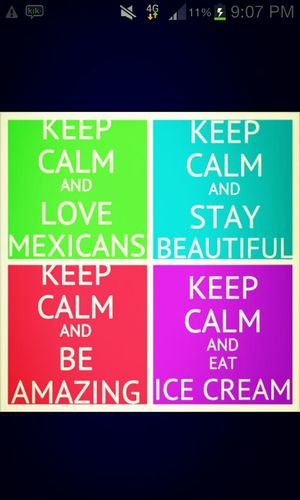 Keep Calm And Love Mexicans.c;