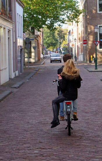 Bicycle Cycling City Street City City Life Street Transportation Riding Mode Of Transport People Two People Netherlands Street Photography Street Life Cycling Around Cycling Photography Couple Hoorn, Netherlands Hoorn, Nederland Hoorn