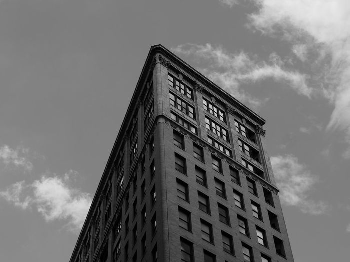 NYC Photography NYC Street Photography Architecture Black And White Photography Building Exterior Built Structure Cloud - Sky Day Low Angle View Modern No People Nyc Architecture Nyc Streets Outdoors Sky