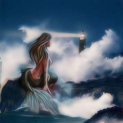 La sirena ArtWork Siren #lighthouse #Santander#Cantabria Beauty Water