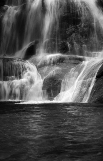 Cogne Lillaz Beauty In Nature Black And White Blurred Motion Day Fine Art Long Exposure Motion Nature No People Outdoors Power In Nature River Scenics Sky Spray Travel Destinations Water Waterfall Waterfront
