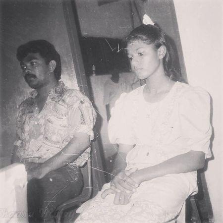 Mom and Dad on their wedding night ❤ Blachnwhite Zamaan 1990s Wedding momndad love stupiditynbeyond
