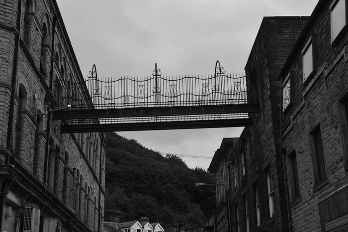 Black & White Black And White Bridge - Man Made Structure Building Exterior Connection Hebden Bridge No Edits No Filters No People Sky