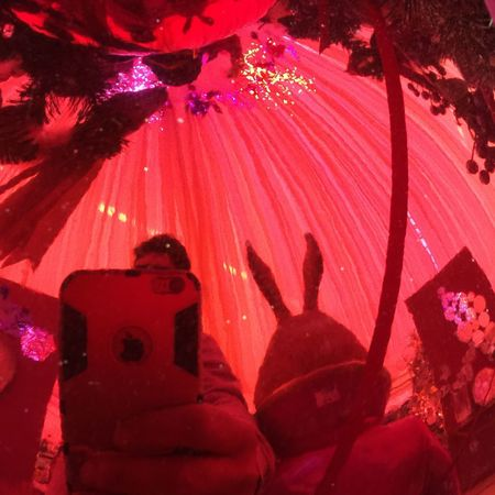 Bunny and me Selfie ✌ Bunny  Night Red Celebration Illuminated Event Shadow EyeEmNewHere People Real People Arts Culture And Entertainment Leisure Activity Enjoyment Fun Nature Lifestyles Tree Men Group Of People Outdoors Unrecognizable Person Nightlife