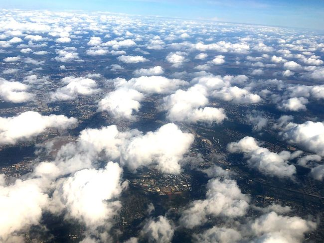 Airplaneview Cloud - Sky Sky Beauty In Nature Scenics - Nature Nature Tranquility Day Aerial View Cloudscape High Angle View Idyllic