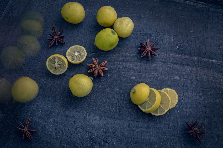 Limequats Anise Cardamom Christmas Citrus Fruit Close-up Day Food Food And Drink Freshness Fruit Ginger Healthy Eating High Angle View Indoors  Ingredient Kumquat Kumquats Lemon Lime Limequat Mustard Plant No People Spice Star Anise Yellow