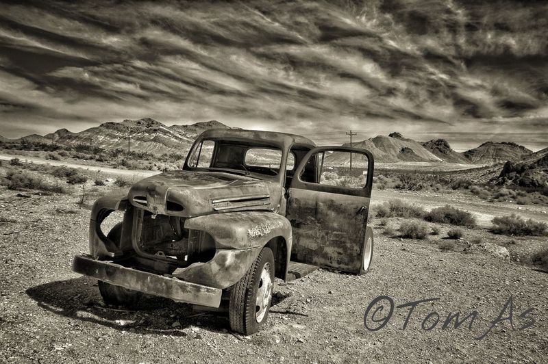 Rhyolite Ghost Town USAtrip Lostplaces Nevada Desert Blackandwhite Black & White Old Car Adult Only EyeEmNewHere