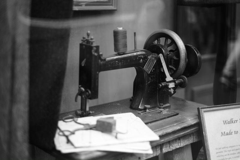 Sewing Machine Vintage Shop Window