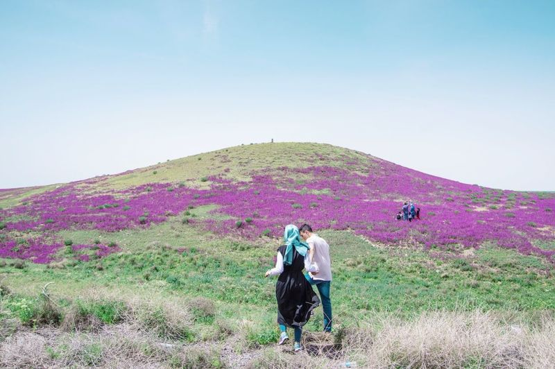 Photographing Landscape Beauty In Nature Scenics Walking Outdoors Photography Themes People Purple The Great Outdoors - 2017 EyeEm Awards