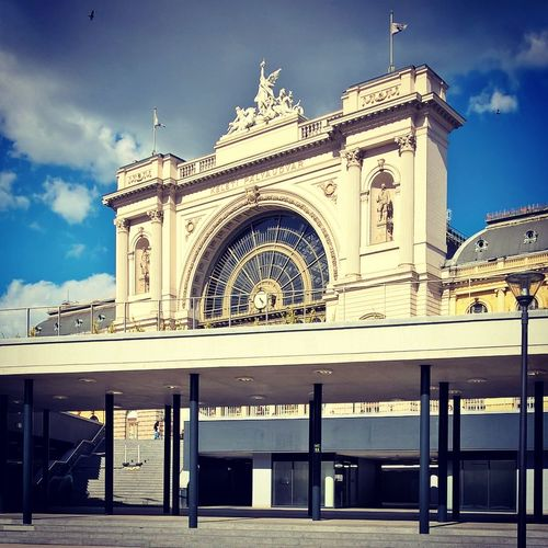 #budapest #keleti #lumiaphoto #trainstation Architecture Building Exterior Built Structure Cloud - Sky Day Façade Low Angle View No People Outdoors Sky