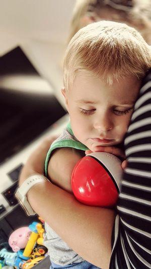 Cute boy with toy