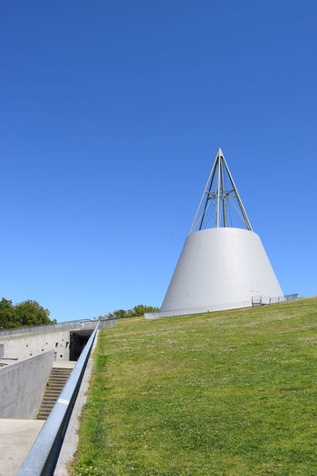 The beautifully designed TU Delft library Architecture Delft Library Sunny Architecture Blue Building Exterior Built Structure Clear Sky Day Environment Grass Green Color Green Roof Land Landscape Nature No People Noedit Nofilter Outdoors Plant Sky Sunlight Sustainability