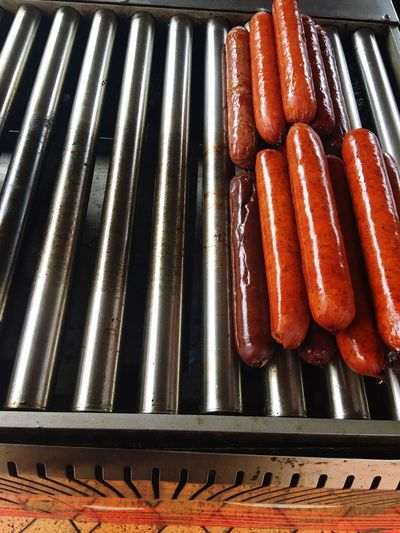 Wieners on the grill Sausages! Weiner-Dog Spicy Food Grill On The Grill Food Foodporn