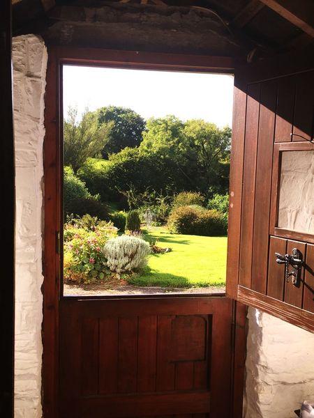 Stable door Porch Hallway House Home Stable Door Exit Entrance Country Life Country House Tree Wood - Material Day Door Entrance No People Doorway Open Door Nature Entry