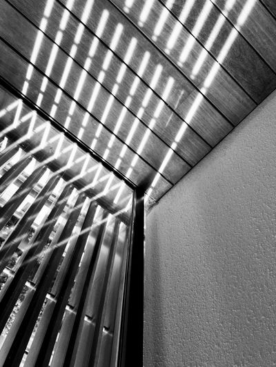 Indoors  Low Angle View Ceiling Geometric Shape Repetition Architectural Feature Architectural Modern Diminishing Perspective No People Structure Eyeem Photography Personal Perspective Daily Eyem Best Shots Ligjt And Shadow Shadow Black And White Monochrome