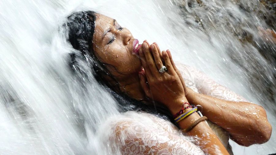 Secret place Bali Bali, Indonesia Beauty Purification Ritual Secret Places Secretplace Waterfall Waterfalls Woman The Portraitist - 2016 EyeEm Awards