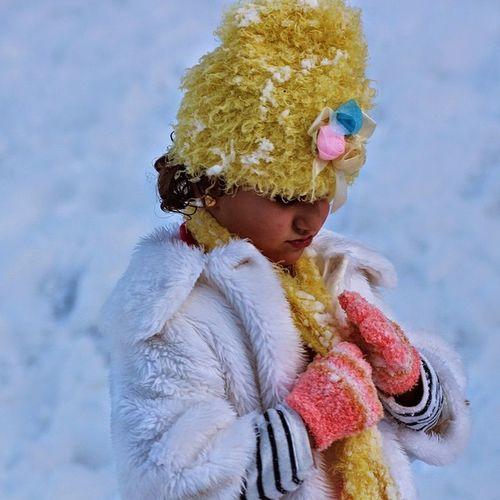 My Lovely Neice Lara❤️💎 in Snowday Day in Kurdistan Ilovekurdistan Duhok Kurd Ilovekurdish