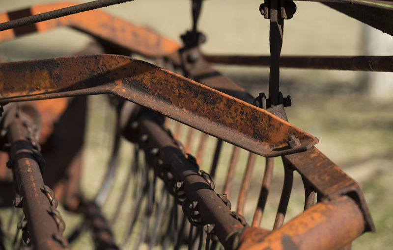 Close-Up Of Farm Machinery