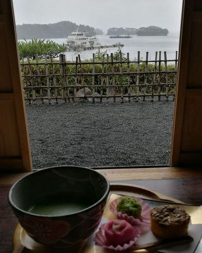 Japan Matsushima Matsushimabay Tea House Japanese Style Japanese Tea Japanese Green Tea Kanrantei No People Food And Drink Dessert Japanese Dessert Foodphotography Relaxing Tea Time Summer Raining Day Summerrain