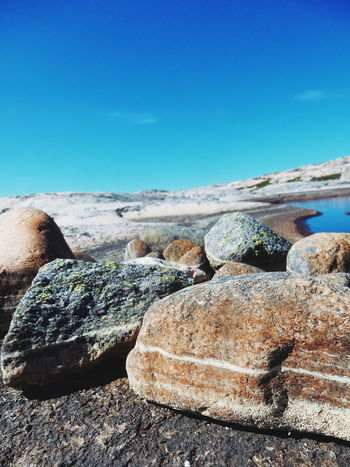 The Great Outdoors - 2016 EyeEm Awards Tjurpannan Grebbestad Sweden Fresh On Eyeem  Rock Nature Rock - Object Blue Blue Sky Rock Formation Scenery Scenics Landscape Summer Background Photography Stones Stone