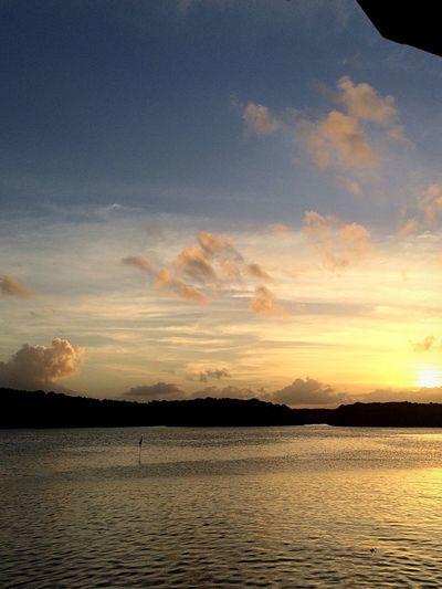 Sunset #sun #clouds #skylovers #sky #nature #beautifulinnature #naturalbeauty #photography #landscape Love ♥