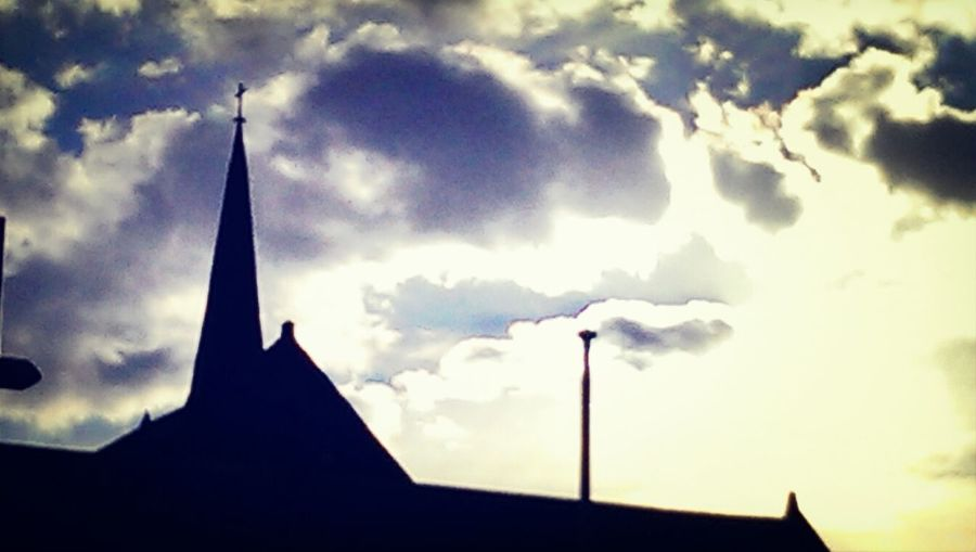 church steeple Silhouette Street Photography Htcone Sky And Clouds
