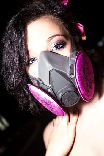 Respirator Sexy Girl Portrait PLUR