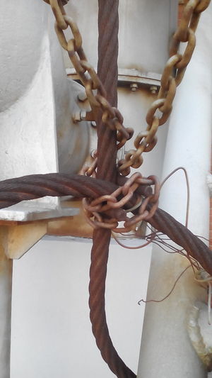 Bolts Rusty Metal Industrial Rust Cable Chains
