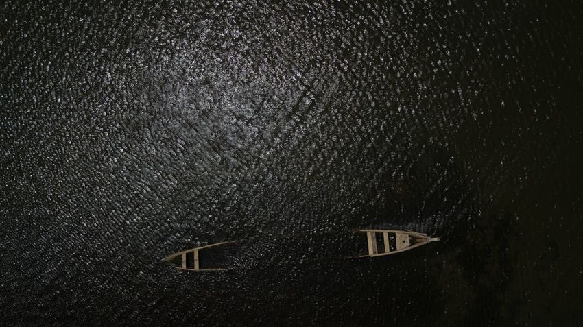 Shipwrecked ? Mavic Pro Dorofoto Onefotos Ghana Canoe Night Architecture Window Built Structure No People Building Exterior Cold Temperature Water Outdoors Low Angle View