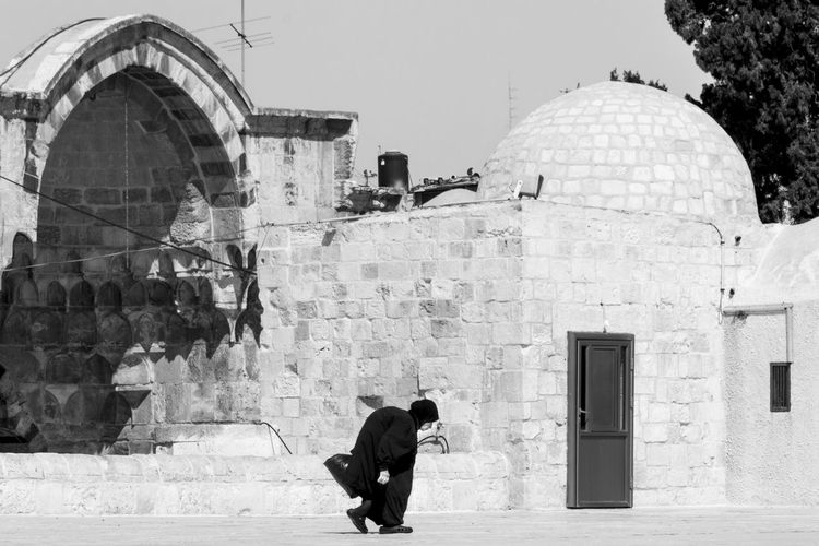Architecture Blackandwhite Eyeem Black And White Israel Israelsummer Jerusalem Old Woman People People And Places People Photography Place Of Worship Religions Snapshots Of Life Summer 2016 Taking Photos Temple Mount Walking By