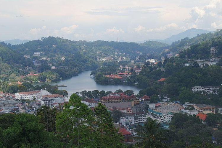 Kandy lake Sri Lanka View From Big Buddha Kandy, Sri Lanka Kandy Lake