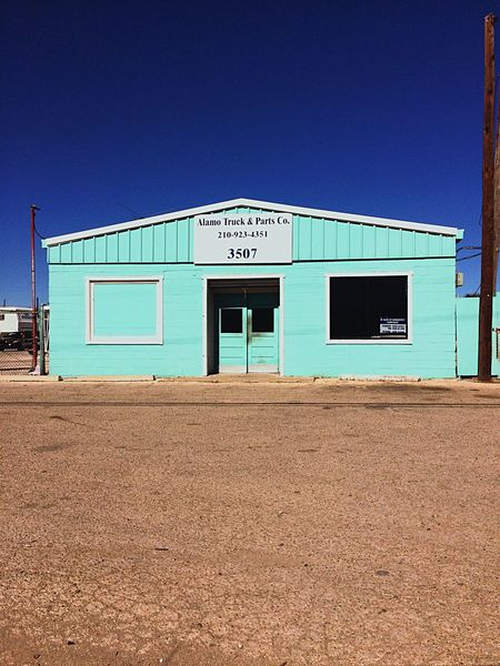 Blue Building Exterior Built Structure Outdoors Clear Sky No People Day Satx