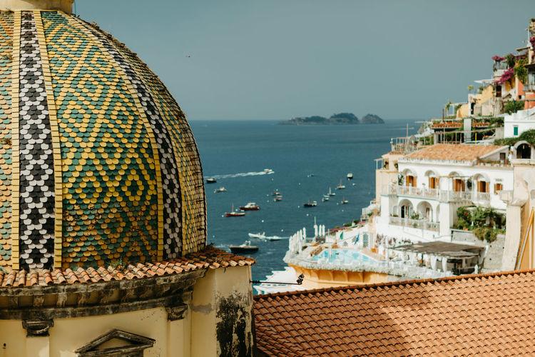 Boats Sea Chiesa Di Santa Maria Assunta Positano Italy Amalfi Italy Amalfi Coast Costa Amalfitana Ocean