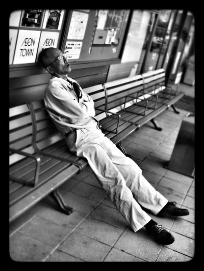 Sleep Bench Blackandwhite IPhone5