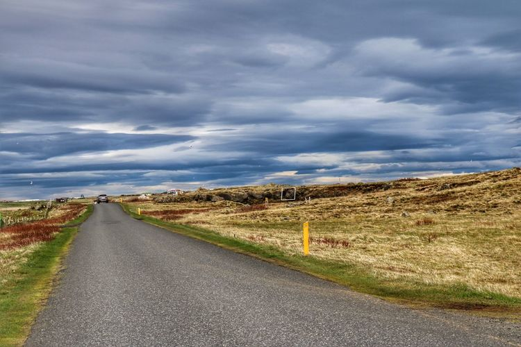 Road The Way Forward Landscape Cloud - Sky Travel Destinations Outdoors Grass Nature Scenics Beauty In Nature Sky Reykjanes Hvalsnes Suðurnes