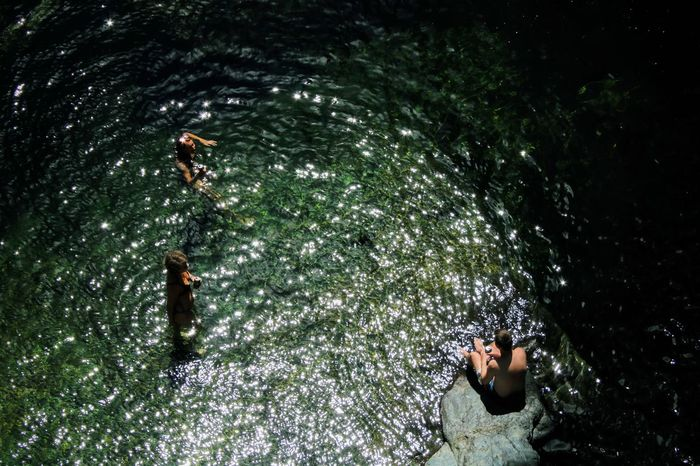 Water Swimming High Angle View Swimming Pool Leisure Activity Real People Outdoors Nature Day Lifestyles Adult Full Length Adults Only Potholes Green Youth EyeEmNewHere Enjoying Nature Fun Perspectives On Nature