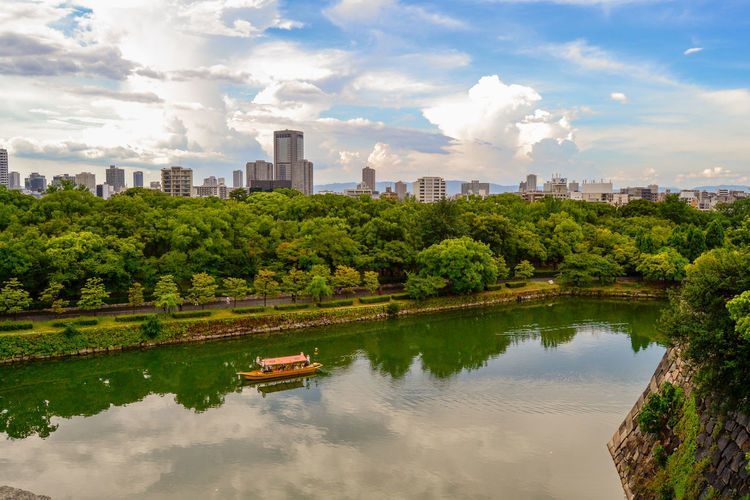 Scenic View Of Lake In City
