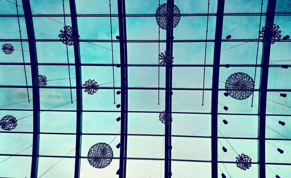 Blue Christmas... (02nd December 2015)Christmas Decorations Blue Sky Window Decoration Stained Glass Window Christmas Ornaments Lookingup December 2015 December Sky Croatia Citylife Cellphone Photography Little Things One Photo Every Day My World Morning Walk