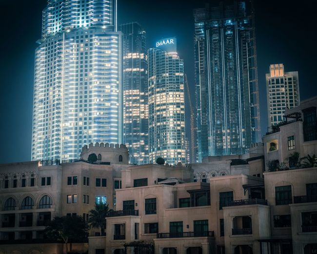 Dubai Building Exterior Built Structure Architecture Building City Office Building Exterior Skyscraper Window Residential District No People Tall - High Nature Night Tower Modern Outdoors Illuminated Sky Low Angle View Office Apartment Financial District