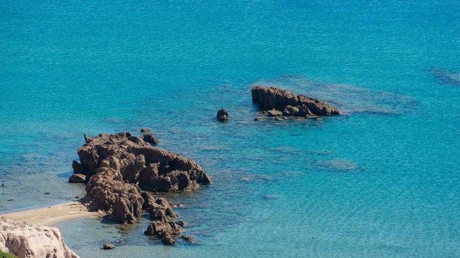 Mediterranean coastal landscape in the south of the island kos greece