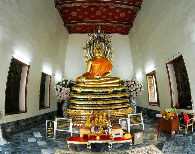 Religion Spirituality Statue Indoors  Gold Sculpture Gold Colored Place Of Worship No People Altar Day Thailand
