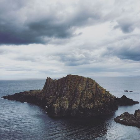 Ireland Ireland🍀 Irelandinspires Coastline Landscape Coast Coastline Antrimcoast Swim Ocean Sea Sky Rock Formation Beauty In Nature Tranquility Cliff Northern Ireland Summer Ballintoy Jump